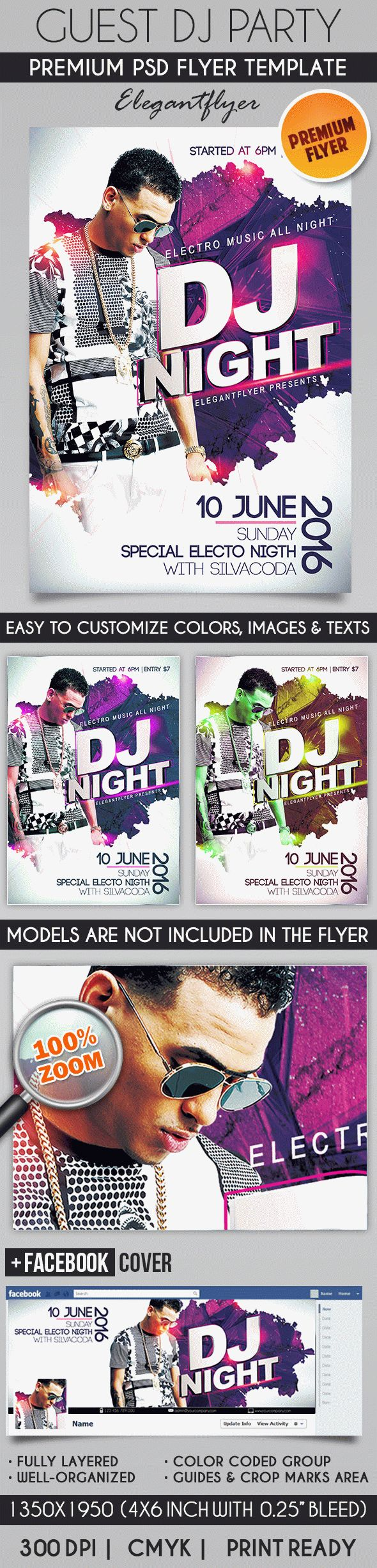 Guest Dj Party – Flyer PSD Template
