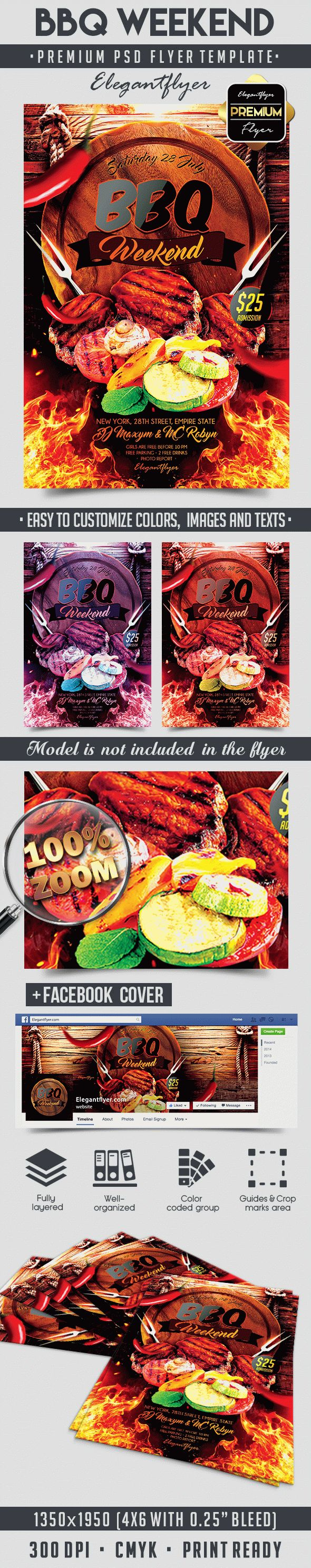 BBQ Weekend Party Template