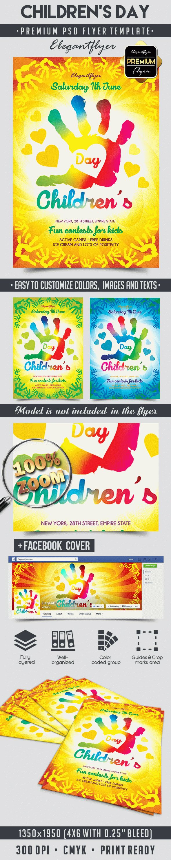 Children's Day – Flyer PSD Template + Facebook Cover