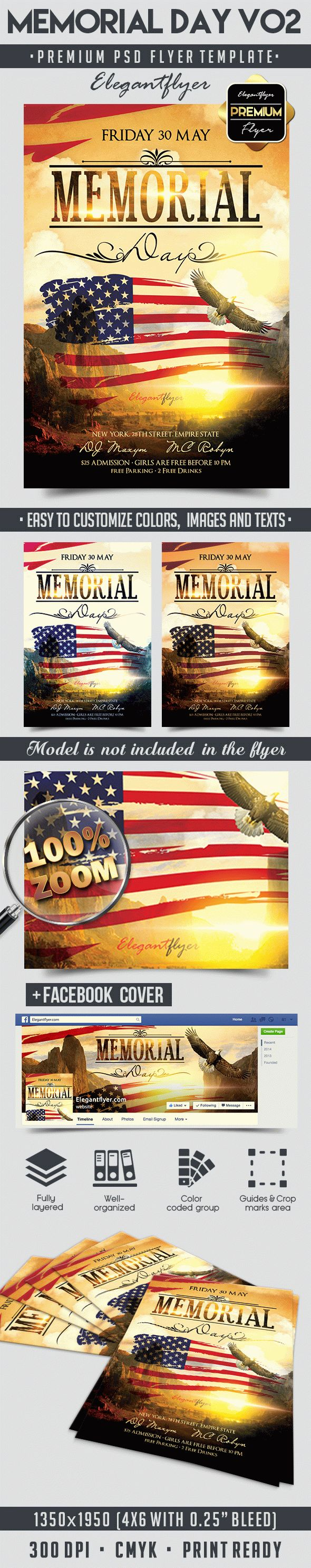 Memorial Day V02 – Flyer PSD Template