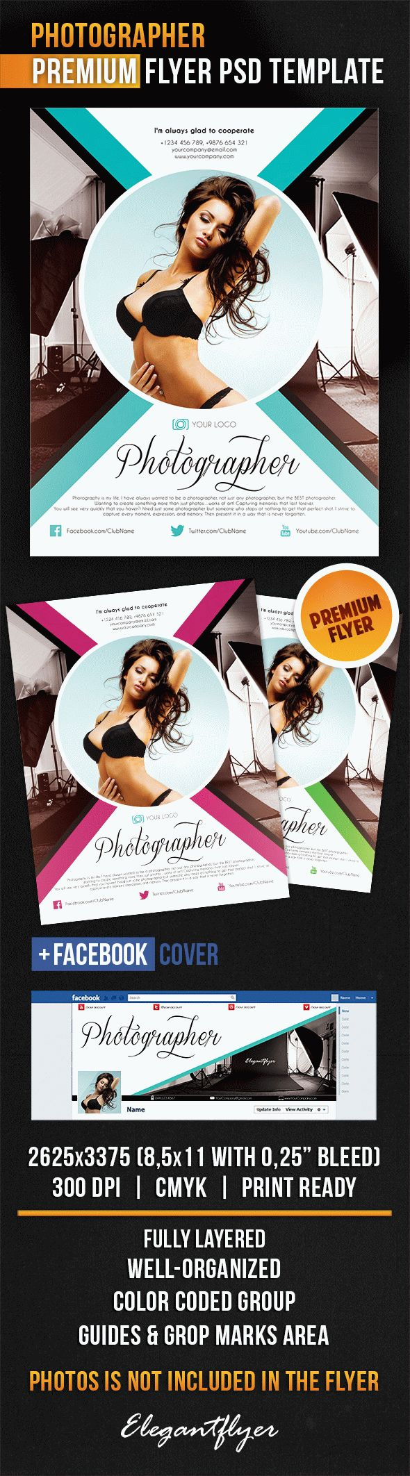 Photographer – Flyer PSD Template + Facebook Cover
