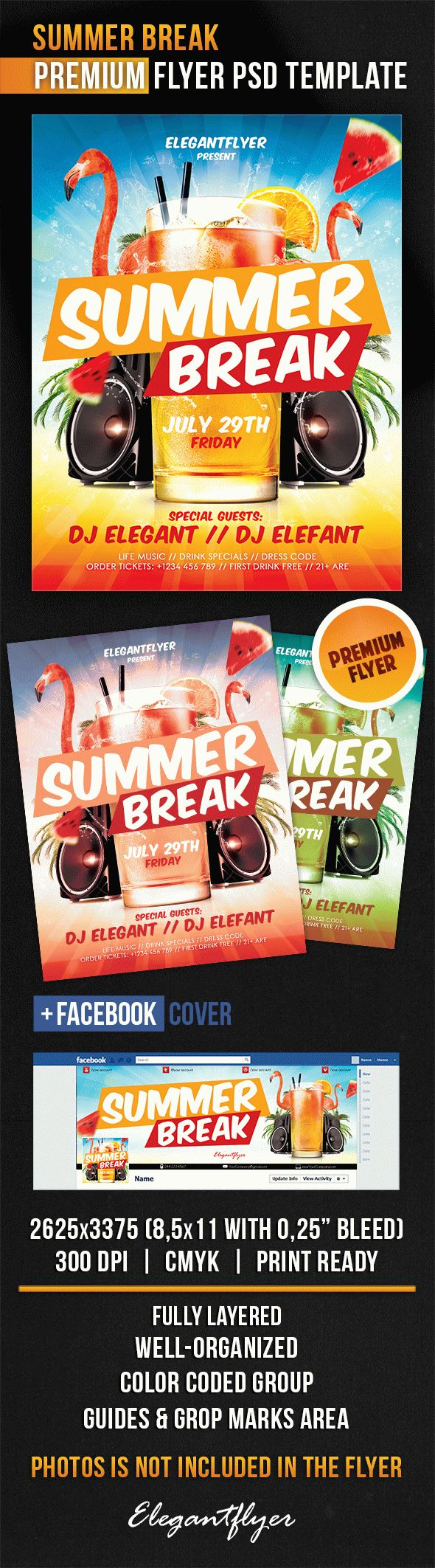 Summer Break – Flyer PSD Template