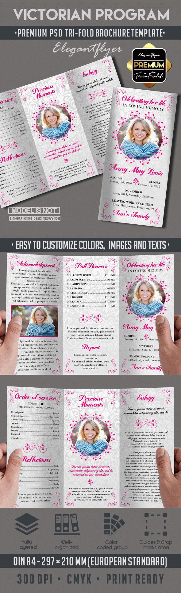 program brochure templates victorian funeral program brochure by elegantflyer