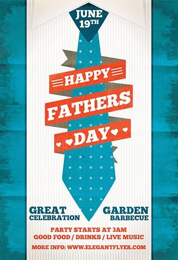 Fathers Day Celebration – Flyer PSD Template + Facebook Cover