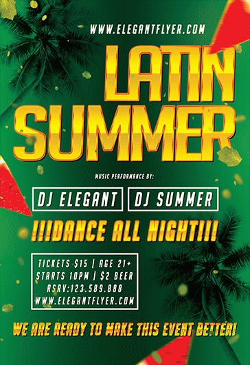 Latin Summer Flyer Template