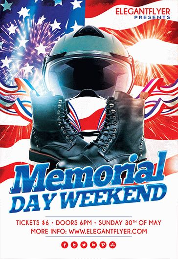 Memorial Day Flyer Template  By Elegantflyer