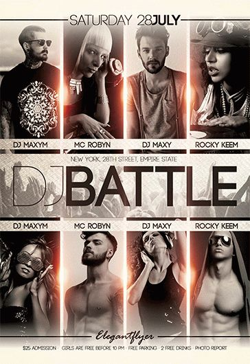 DJ Battle V02 – Flyer PSD Template + Facebook Cover