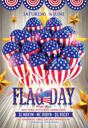Flag Day – Flyer Psd Template + Facebook Cover – By Elegantflyer