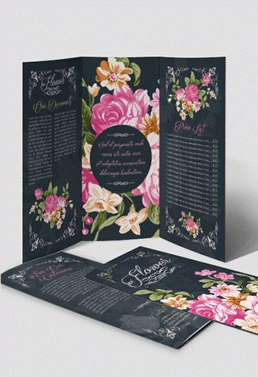 Flowers for Wedding Invitation Template