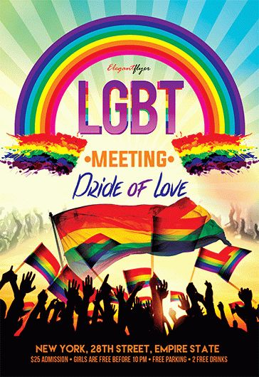 Lgbt Meeting Flyer Psd Template By Elegantflyer