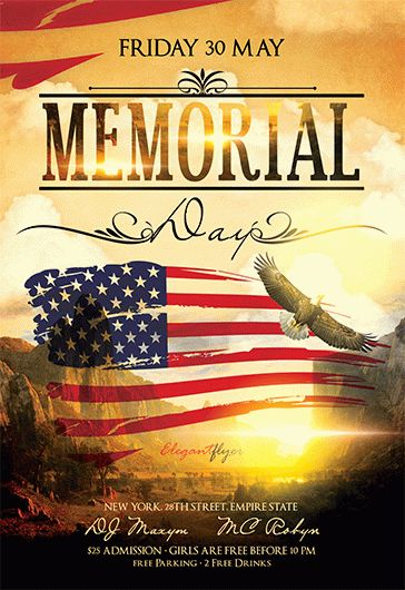 Memorial Day V02 – Flyer PSD Template + Facebook Cover