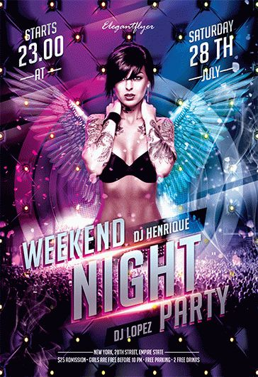 Weekend Night Party – Flyer PSD Template
