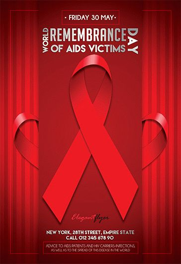 Smallpreview_World_Remembrance_Day_of_AIDS_Victims_flyer_psd_template_facebook_cover