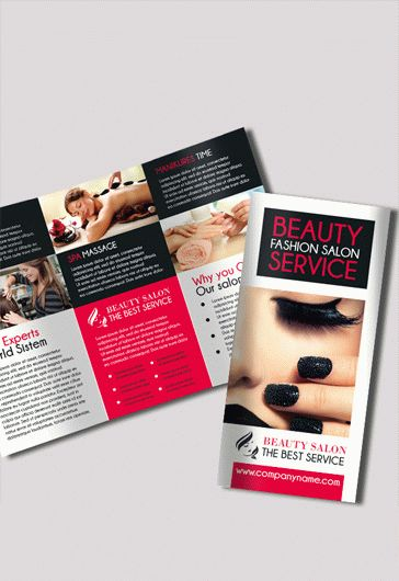 Beauty Salon  Premium TriFold Psd Brochure Template  By