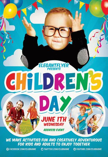 children u2019s day flyer  u2013 by elegantflyer