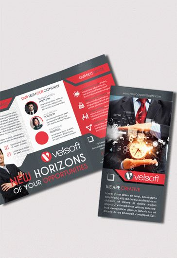 Tri-Fold Soft Skills Training Brochure Template