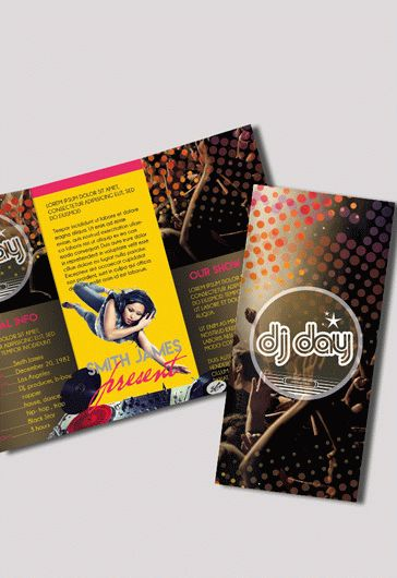 DJ Party – Premium Tri-Fold PSD Brochure Template