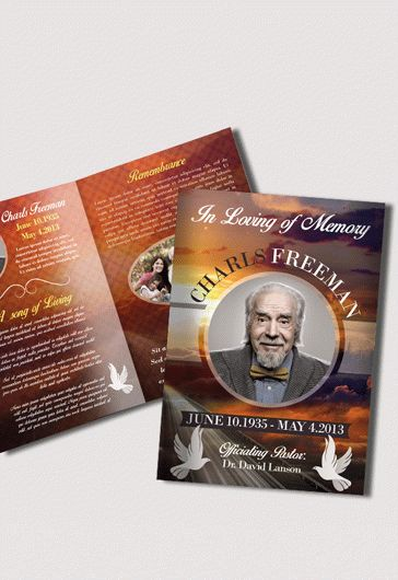 Funeral Wreath Designs Tri-Fold Brochure