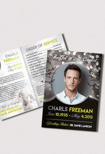 Premium Funeral Program Template  By Elegantflyer