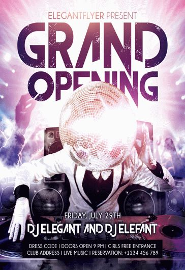 Grand Opening  Flyer Psd Template  Facebook Cover  By Elegantflyer