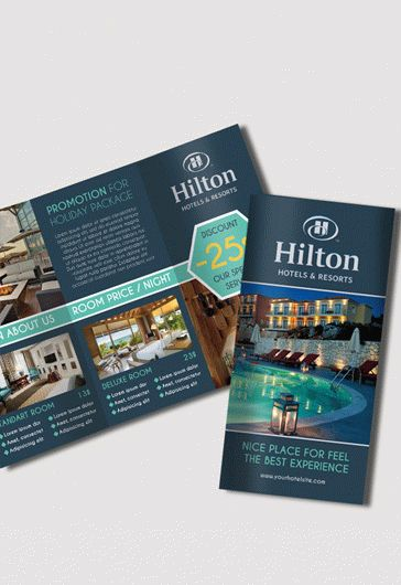 Hotel  Premium TriFold Psd Brochure Template  By Elegantflyer