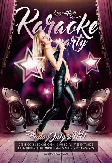 Karaoke Party  Flyer Psd Template  Facebook Cover  By Elegantflyer