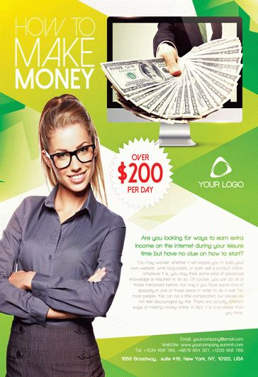make money invitation flyer  u2013 by elegantflyer