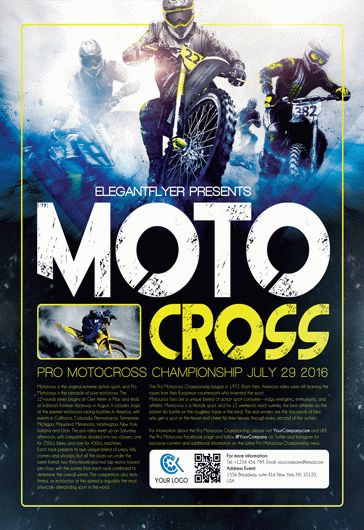 Motocross – Flyer PSD Template