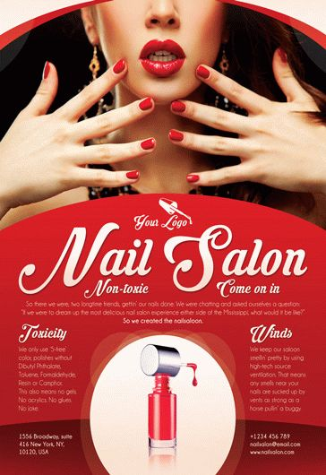 Red Nail Salon Poster Template By Elegantflyer