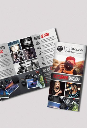 Tri-Fold PSD Brochure Photography Shoot
