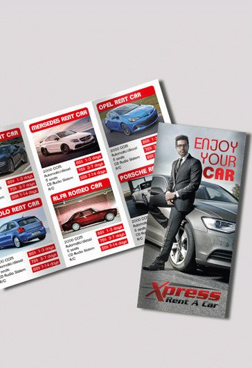 Rent A Car Free Psd Tri Fold Psd Brochure Template By Elegantflyer