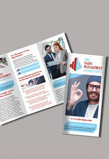 The Salesman Premium TriFold PSD Brochure Template By - Sales brochure template