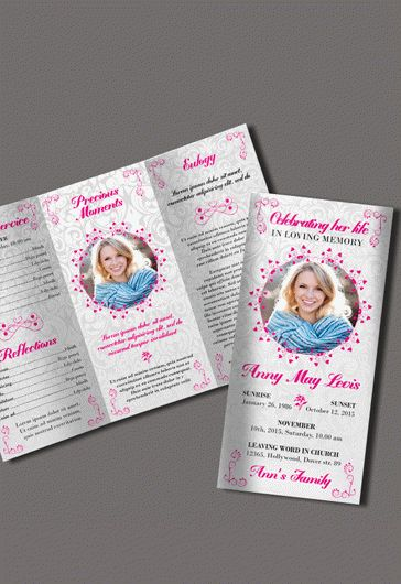 Free Editable Funeral Program Brochure