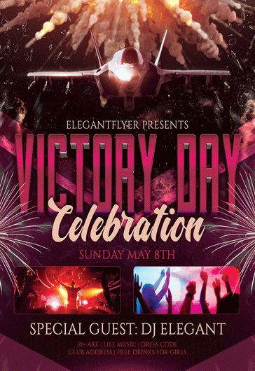 victory day celebration  u2013 flyer psd template  u2013 by elegantflyer