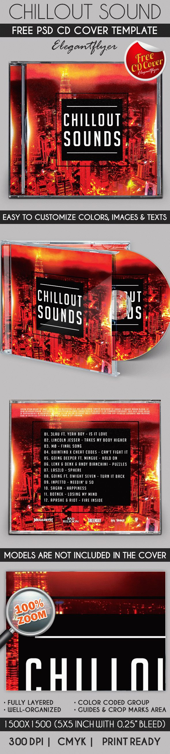 Chillout Sound – Free CD Cover PSD Template
