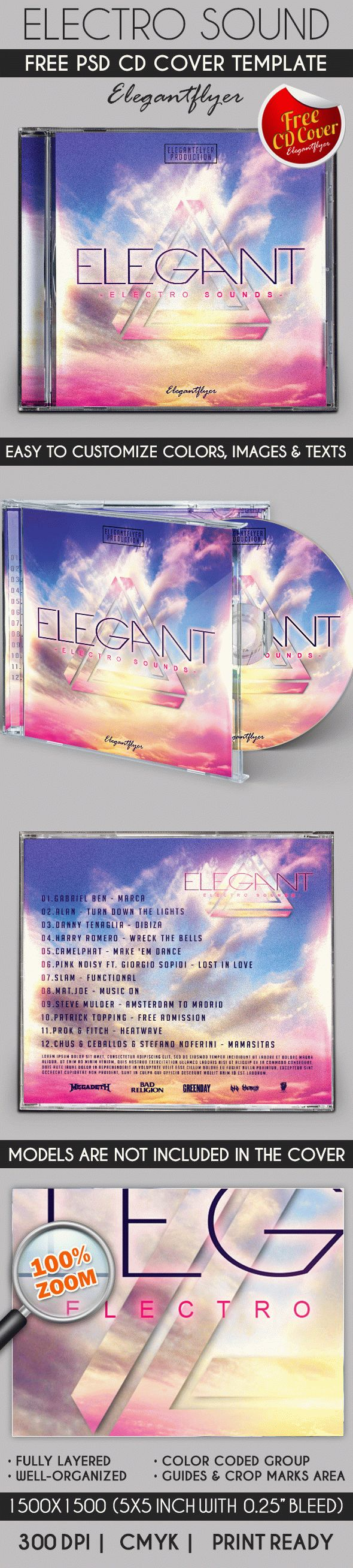 Electro Sound – Free CD Cover PSD Template