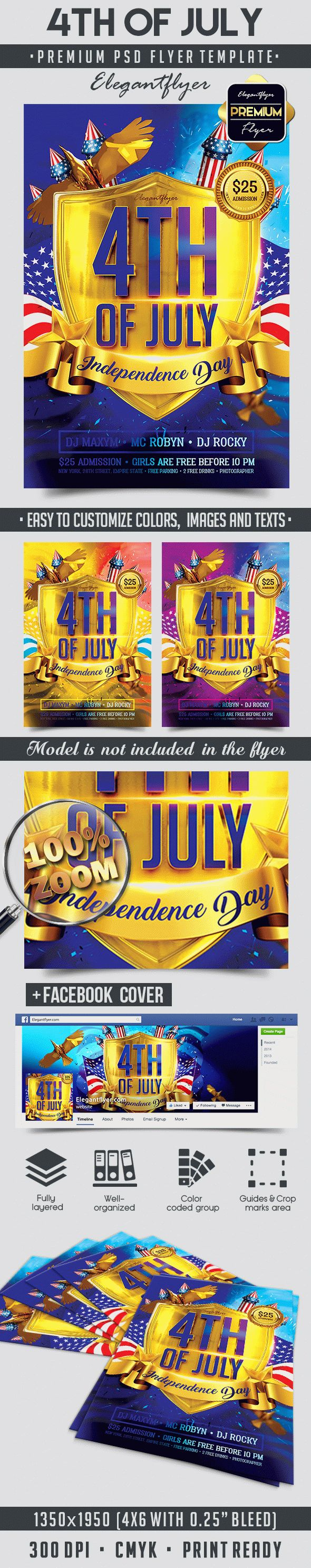 4th of July Independence Day PSD Template