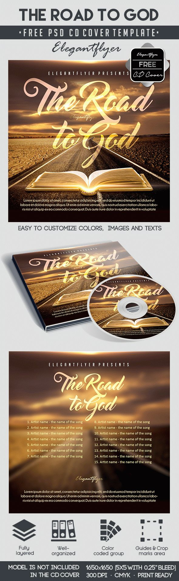 The road to God – Free CD Cover PSD Template