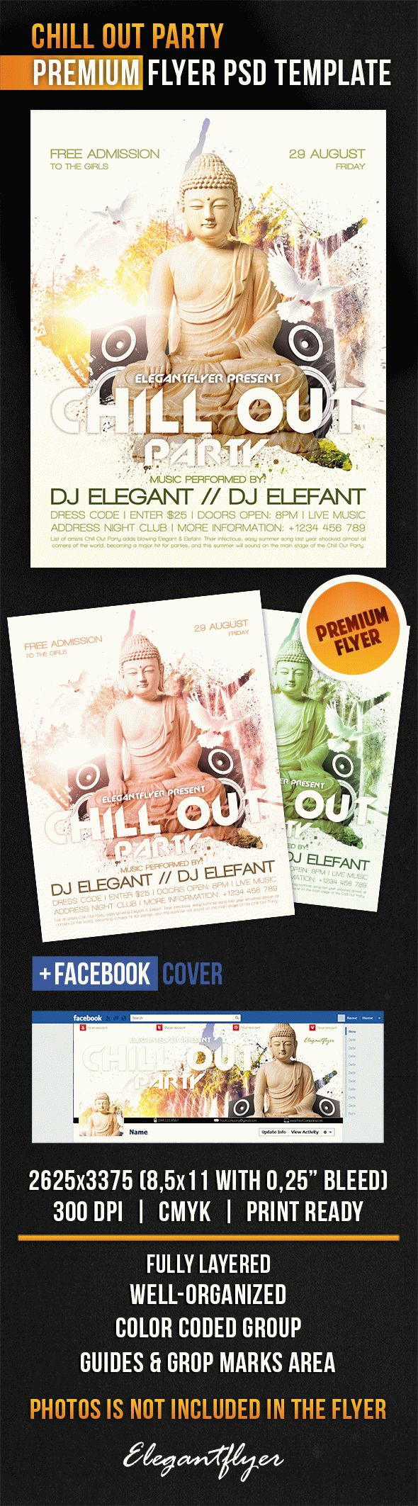 Chill Out Party – Flyer PSD Template