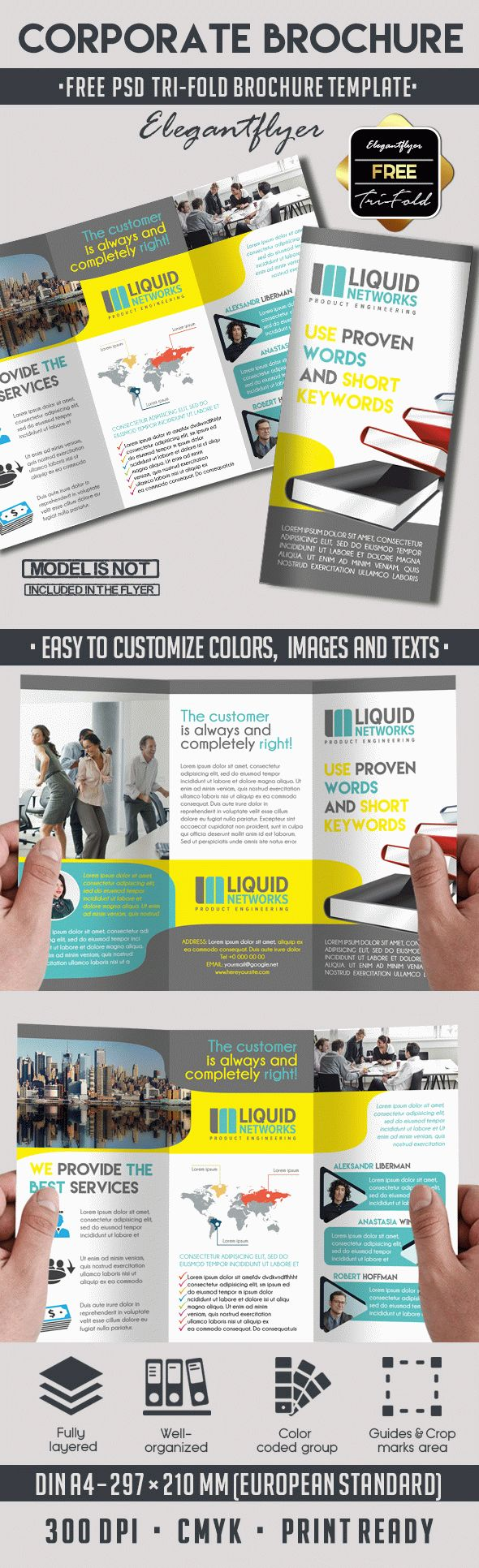 Free Corporate Tri Fold Brochure Template By Elegantflyer