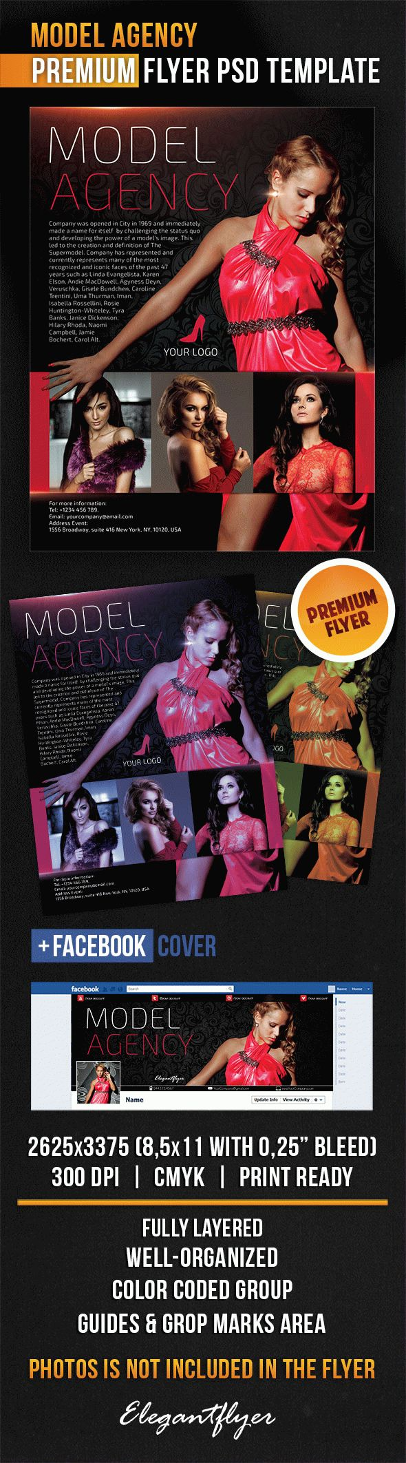 Model Agency – Flyer PSD Template