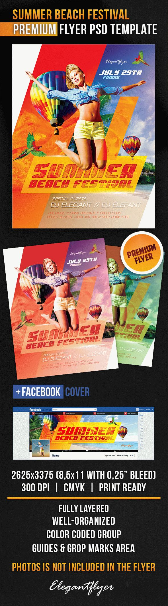 Summer Beach Festival – Flyer PSD Template