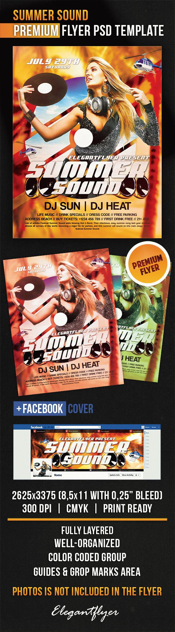 Summer Sound – Flyer PSD Template