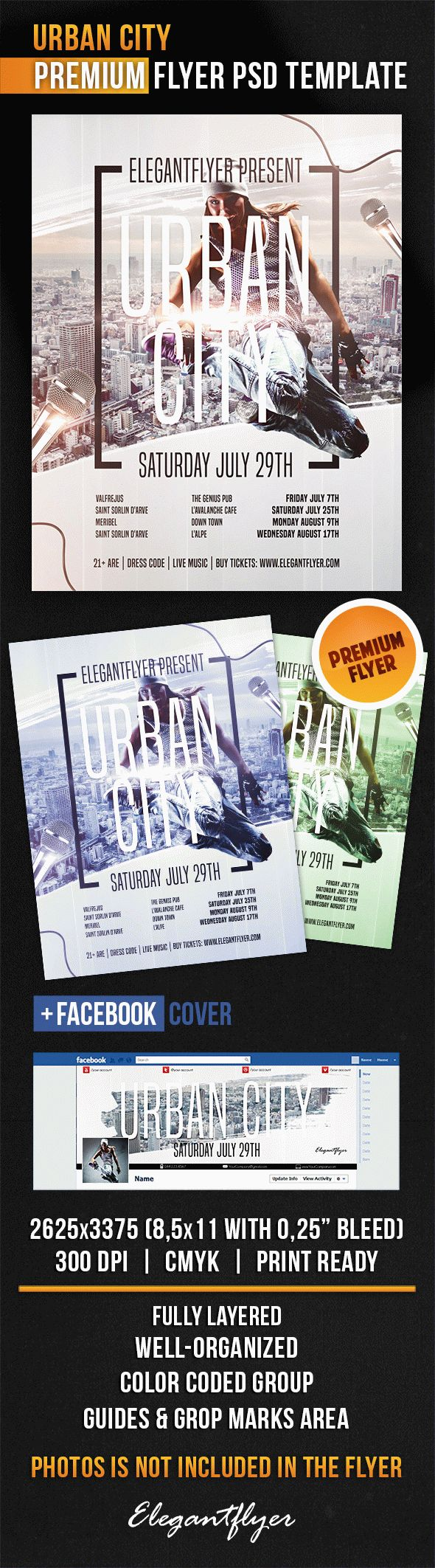 Urban City – Flyer PSD Template