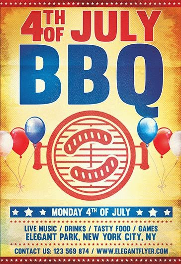 Flyer for 4th of July BBQ