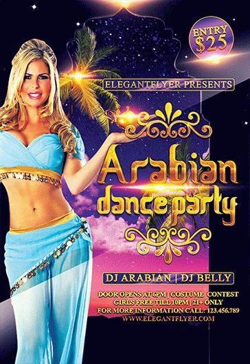 Arabian Dance Party – Flyer PSD Template