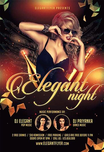 Elegant Flyer Night – Flyer PSD Template