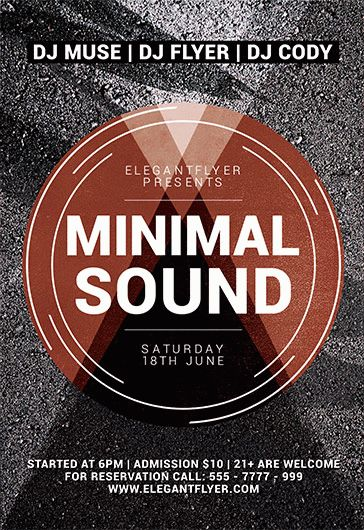 Flyer for Minimal Sound