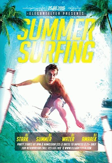 Free Flyer for Surfing Hawaii Summer