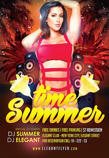 Summer Time Girls PSD Template